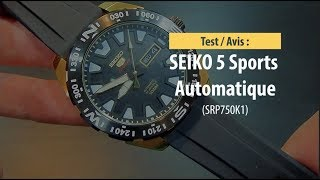 Test : Seiko 5 Sports (SRP750k1) La meilleure gamme montre automatique pas cher ?
