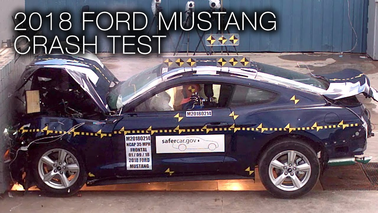 Ford mustang 2018 frontal crash test