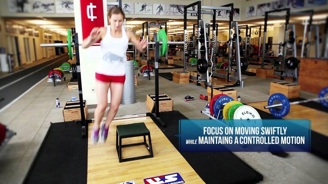 Preseason Ski Workout: Lateral Box Jumps With US SKi Team Mogul Skier Heather McPhie