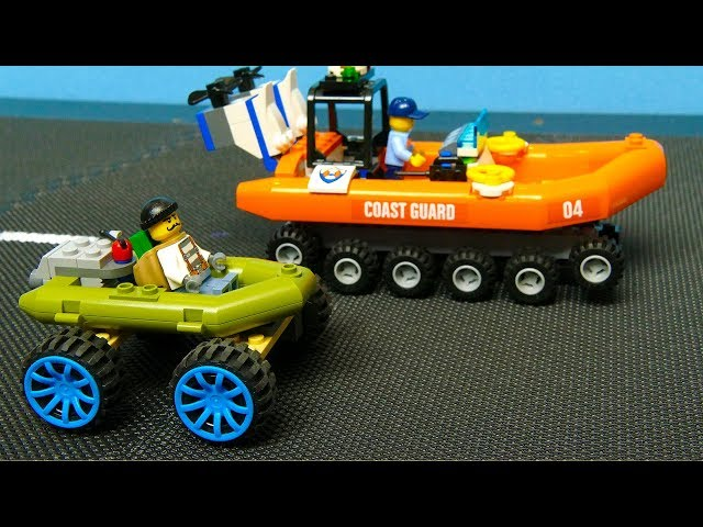 LEGO Robbery and Police chase ,  Experimental cars . Fire Truck toys