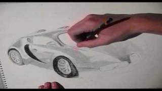 Speed Drawing | Bugatti Veyron
