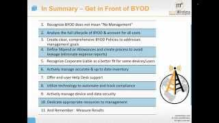 Managing BYOD in the Enterprise - A Service Approach