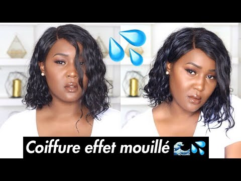 coiffure effet mouill routine maquillage du moment yiroo hair youtube. Black Bedroom Furniture Sets. Home Design Ideas