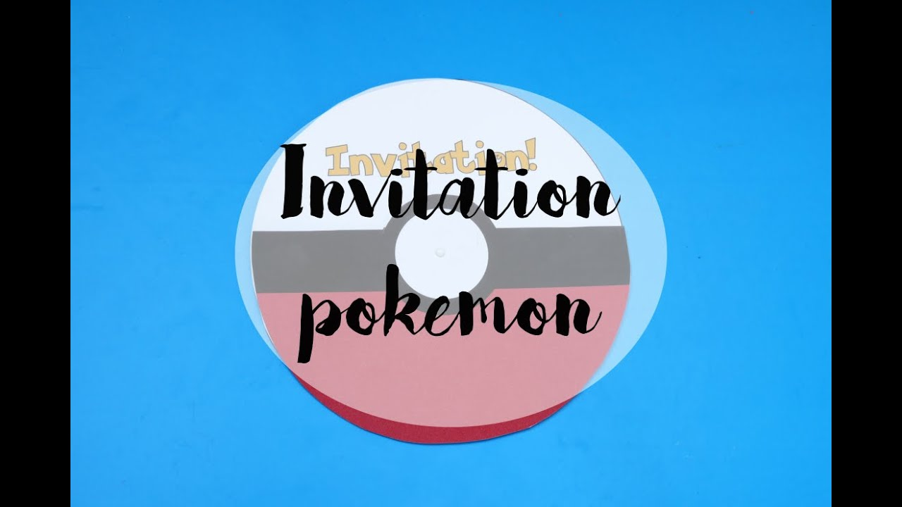gouter d 39 anniversaire invitation pokemon diy youtube. Black Bedroom Furniture Sets. Home Design Ideas