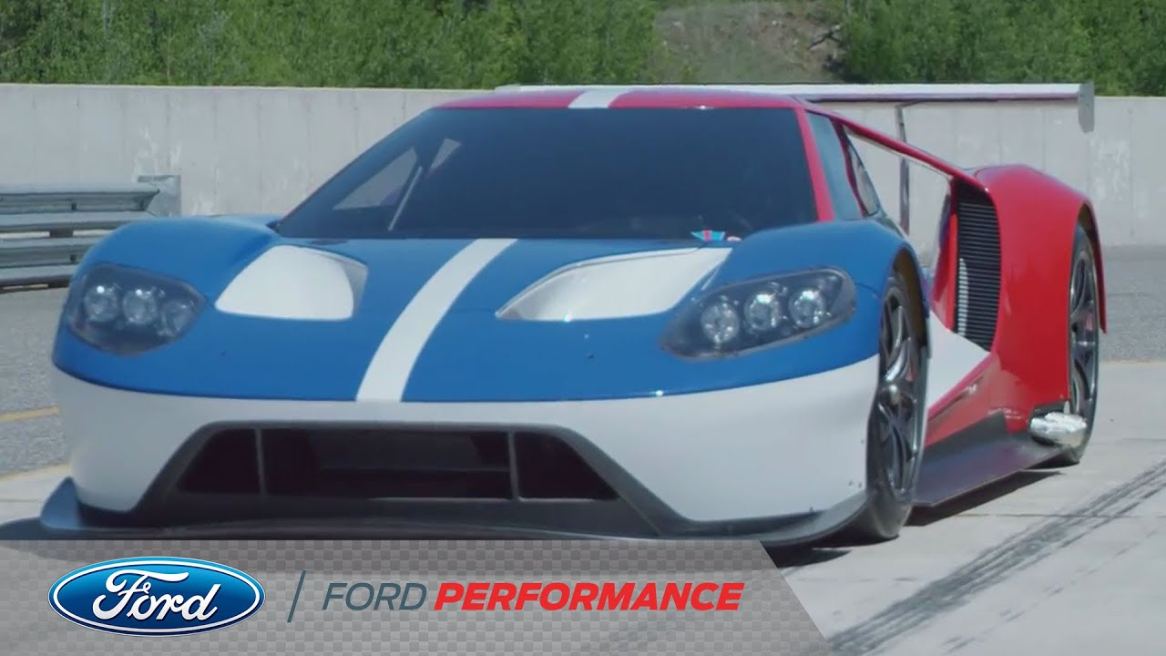 Ford Gt Race Car First Shakedown Test Ford Gt Ford Performance Youtube