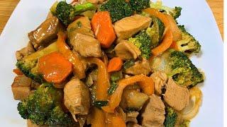 Pollo con Brócoli-Comida China Riquísima
