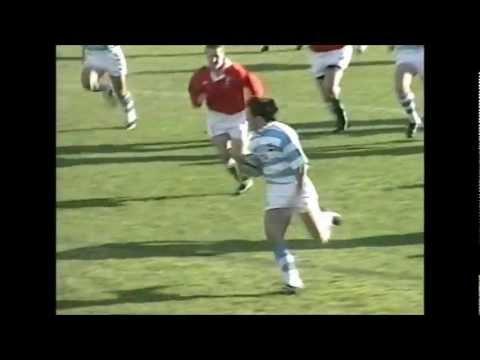 Gonzalo Quesada try vs Wales 1999