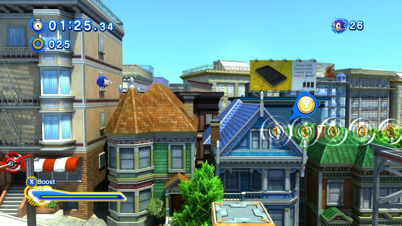 sonic generations modern city escape escape from the