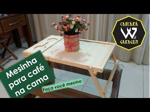 Como fazer uma Mesa dobrável para Café ou Notebook na Cama
