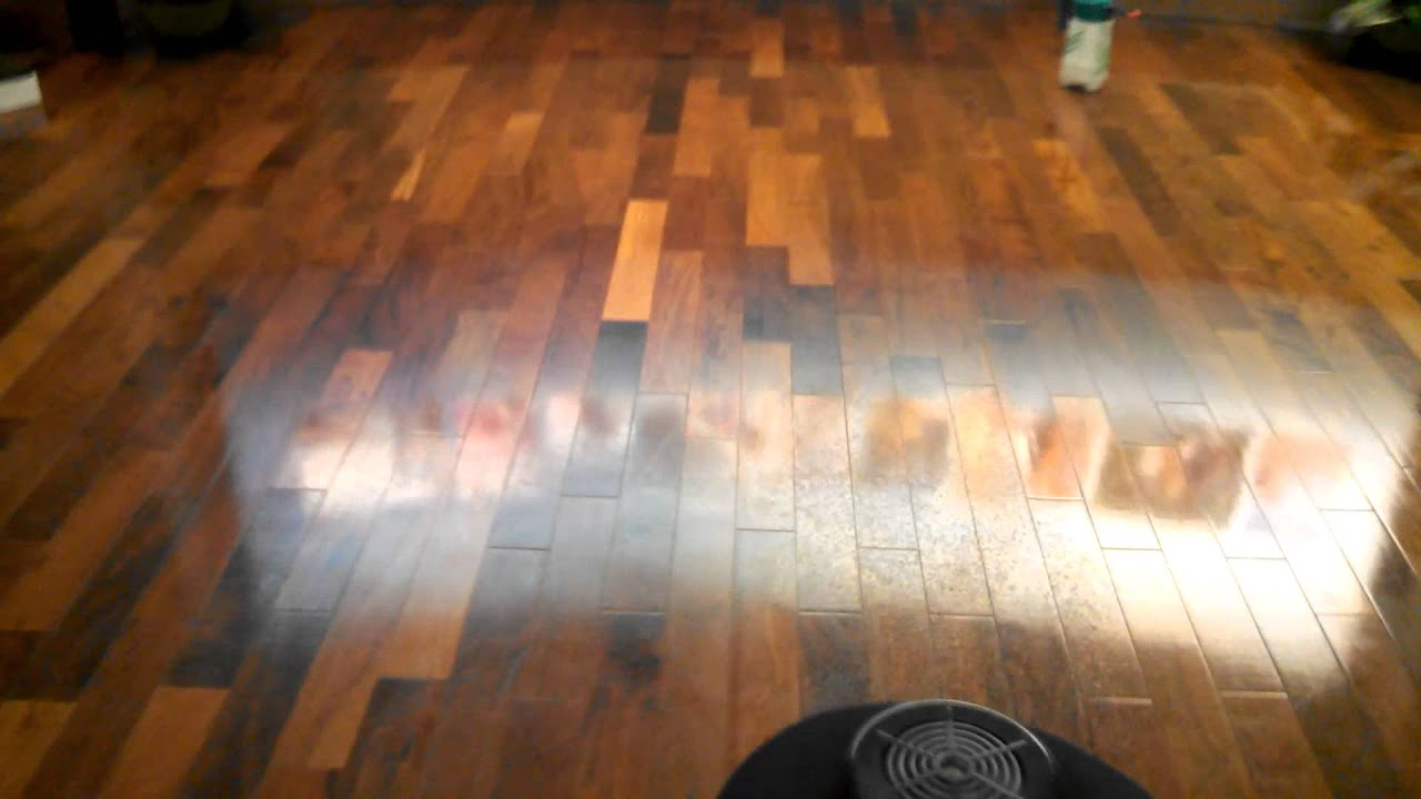 Polishing Wax On A Wood Floor