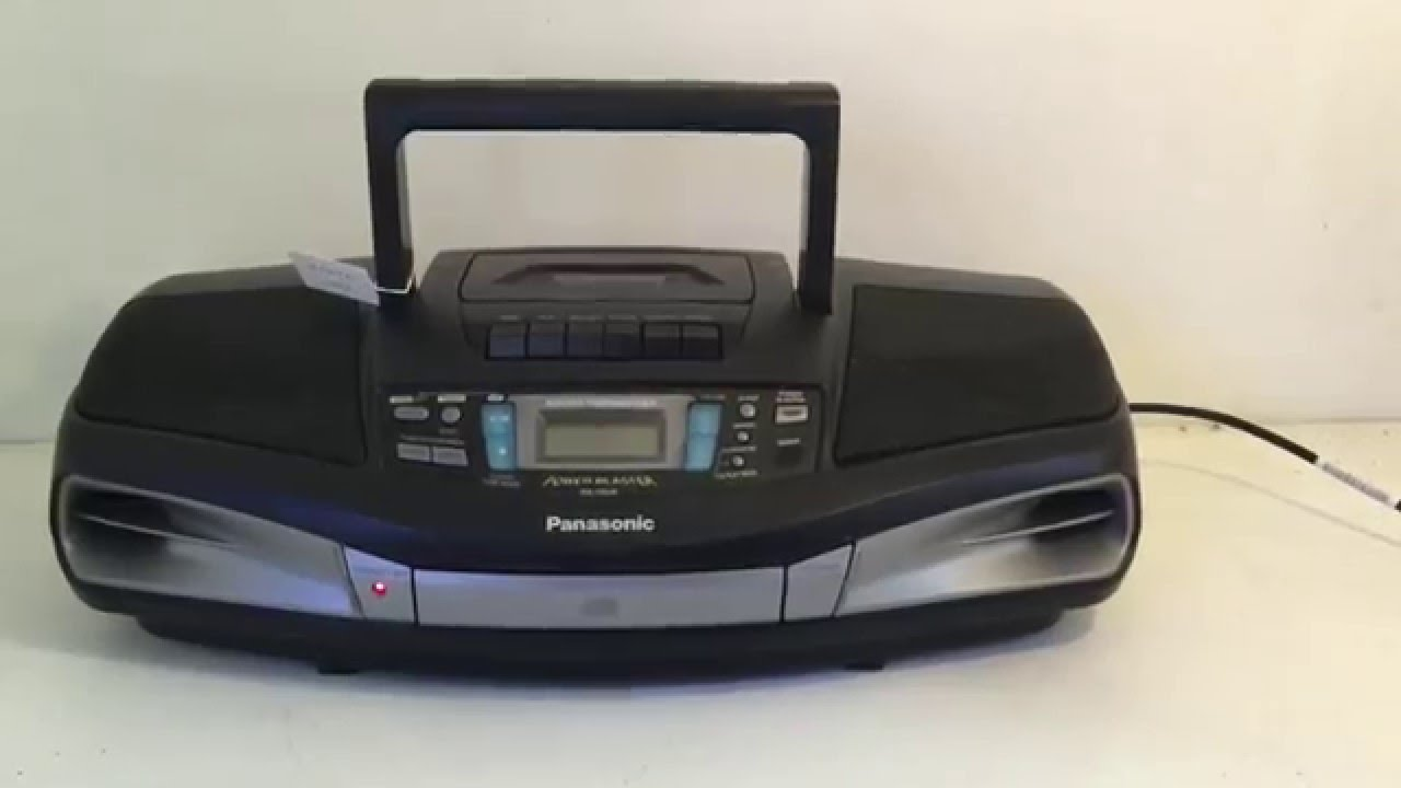 panasonic rx ds28 radio cassette cd player boombox youtube. Black Bedroom Furniture Sets. Home Design Ideas