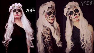 Easy Sugar skull Makeup tutorial - Halloween 2014