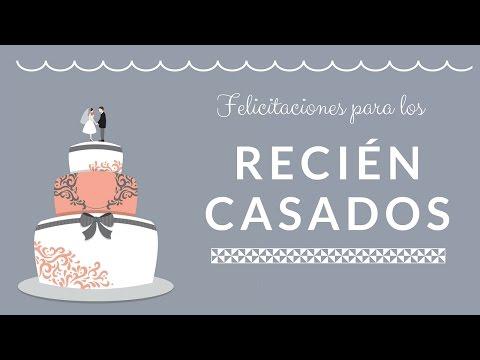 Mensaje HERMOSO de felicitacion para recien casados - Dedicatorias para bodas