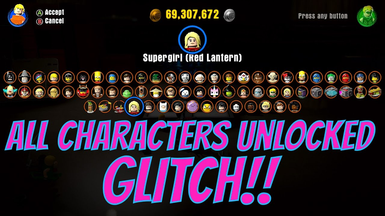 LEGO Dimensions - All Characters Unlocked Glitch!! (On Mystery Dimension)