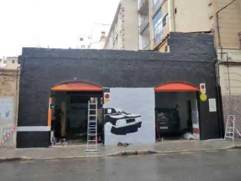Aerosolwork fachada de talleres mauri youtube - Fachadas de talleres ...