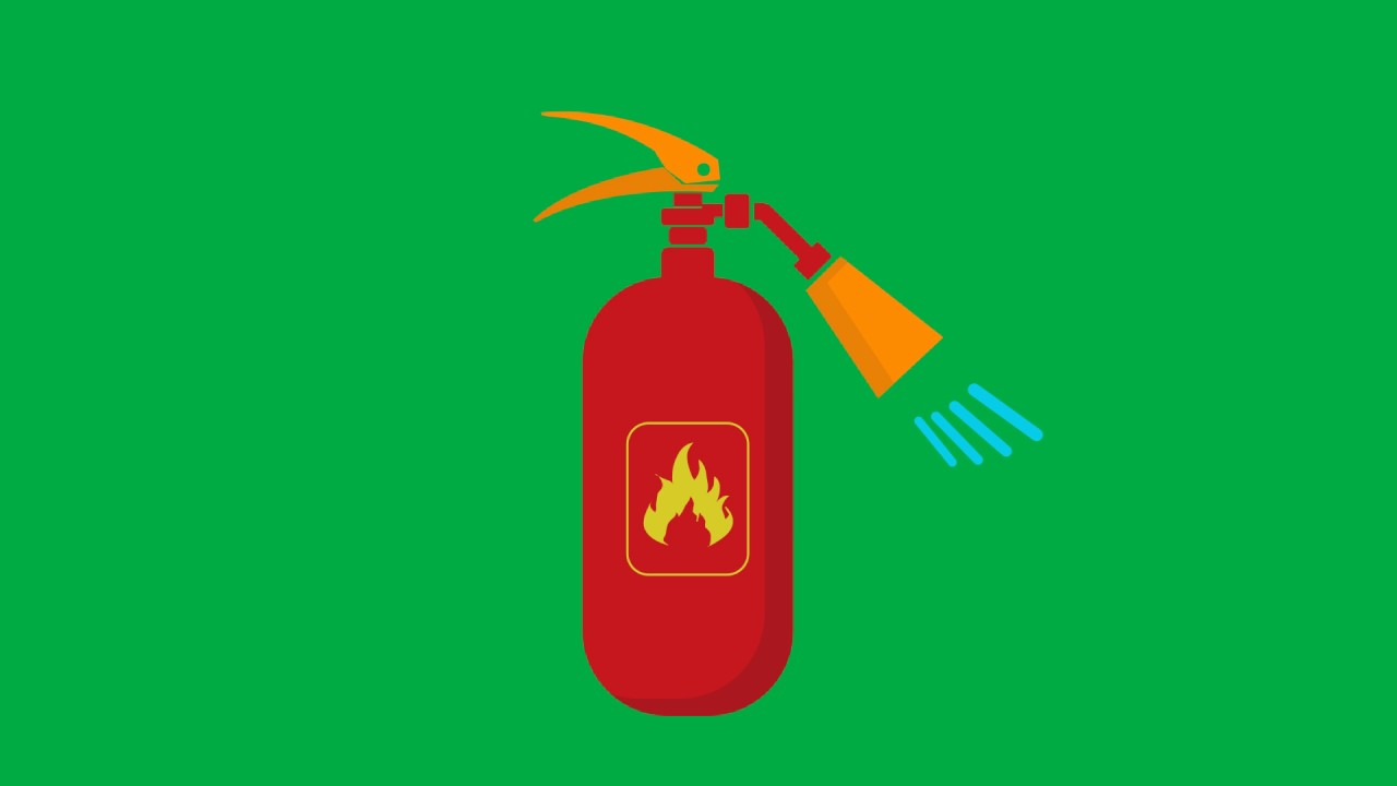 Fire Extinguisher Animated Green Screen - YouTube