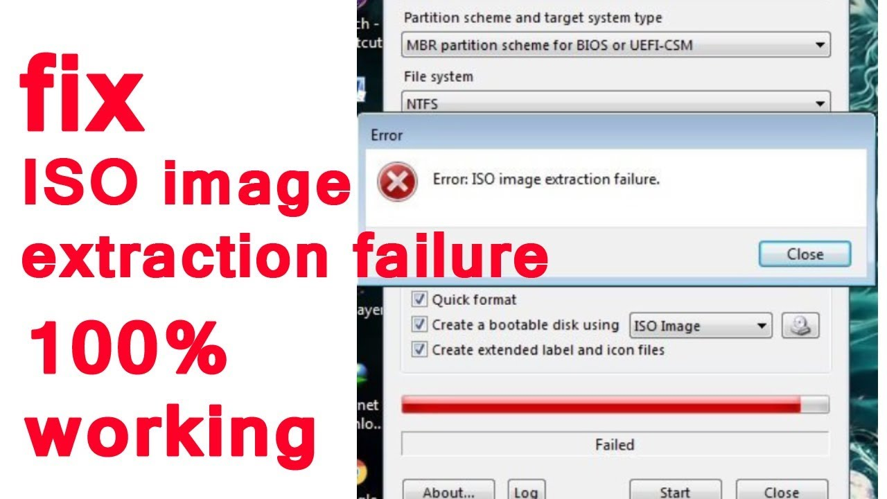 ISO image extraction failure | (FIXED) CB TECHNOLOGY
