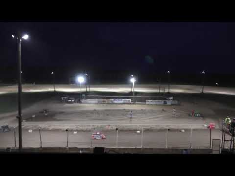 A Feature 1 (10 Laps): 27P-Peyton Cunningham, 11-Delano Hale, 86T-Tim Painter Jr, 21-June Dora, 11B-Coleman Rogers, 46-Lucas Reed. - dirt track racing video image