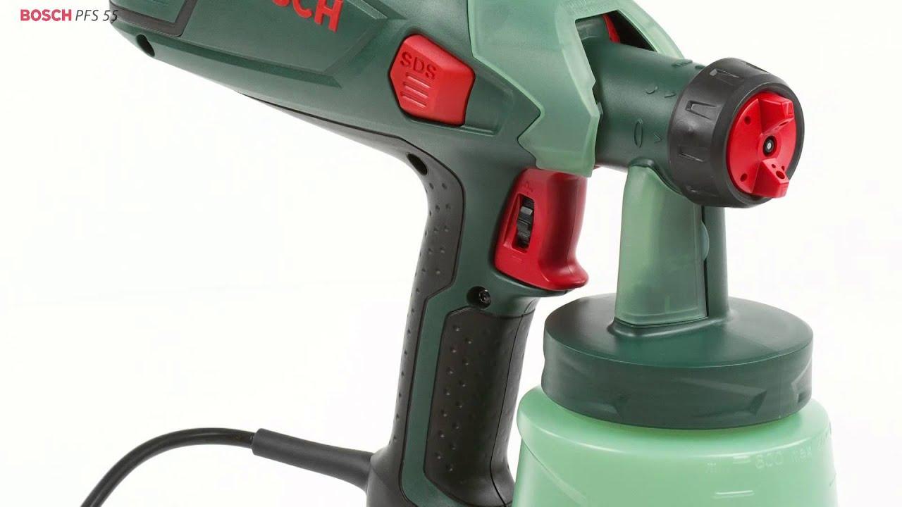 Pistola de pintar bosch pfs 55 bosch youtube - Pistolas para pintar ...