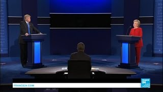 US Presidential Debate: Clinton and Trump spar in gladiator contest as it degenerates into insults