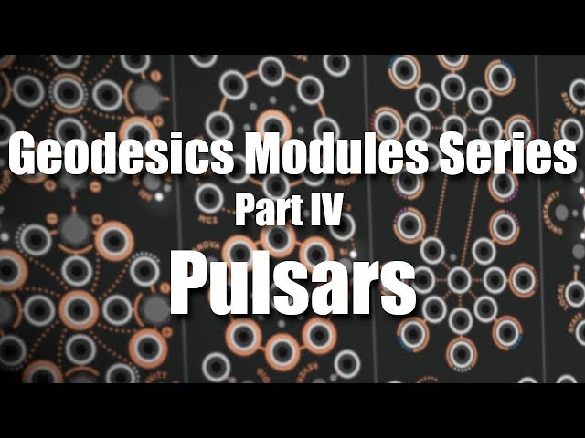 Geodesics Modules Series Part 4 - Pulsars