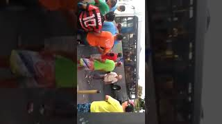 Acidente ônibus e moto Alto Maron