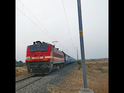 Jaipur - Secundarabad Express with Red Chilli ET WAP-4 #22856 at mps : 200 subscriber special video