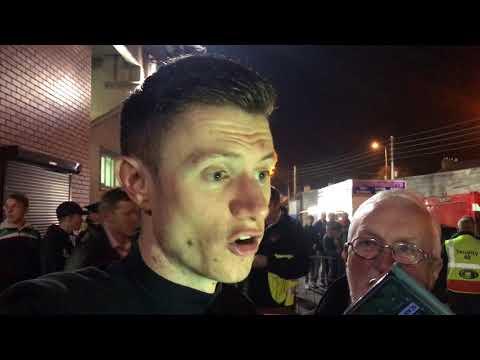 Johnny Dunleavy reacts to Cork City's 2017 Premier Division triumph