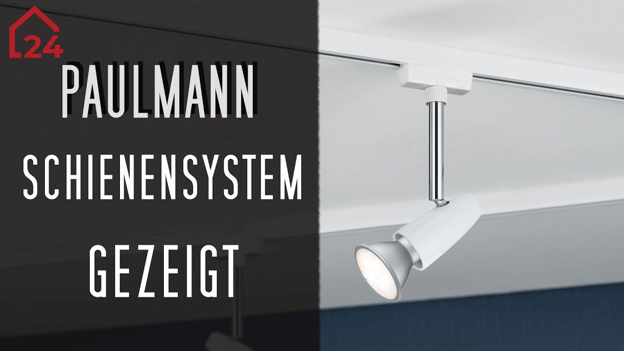 paulmann urail schienensystem barelli komplettset was kann das 4 x 50 watt lampen set youtube. Black Bedroom Furniture Sets. Home Design Ideas