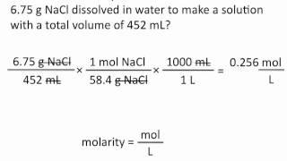 Molarity - Chemistry Tutorial