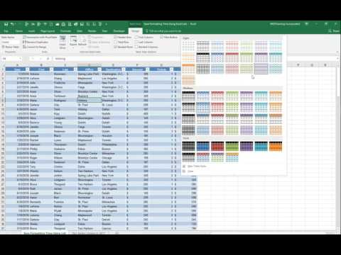 How to Convert Excel spreadsheet data into a Table