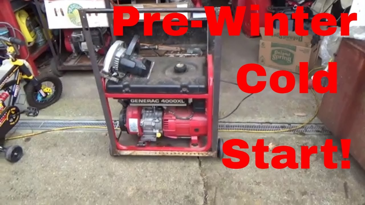 small resolution of generac 4000xl generator pre winter cold start