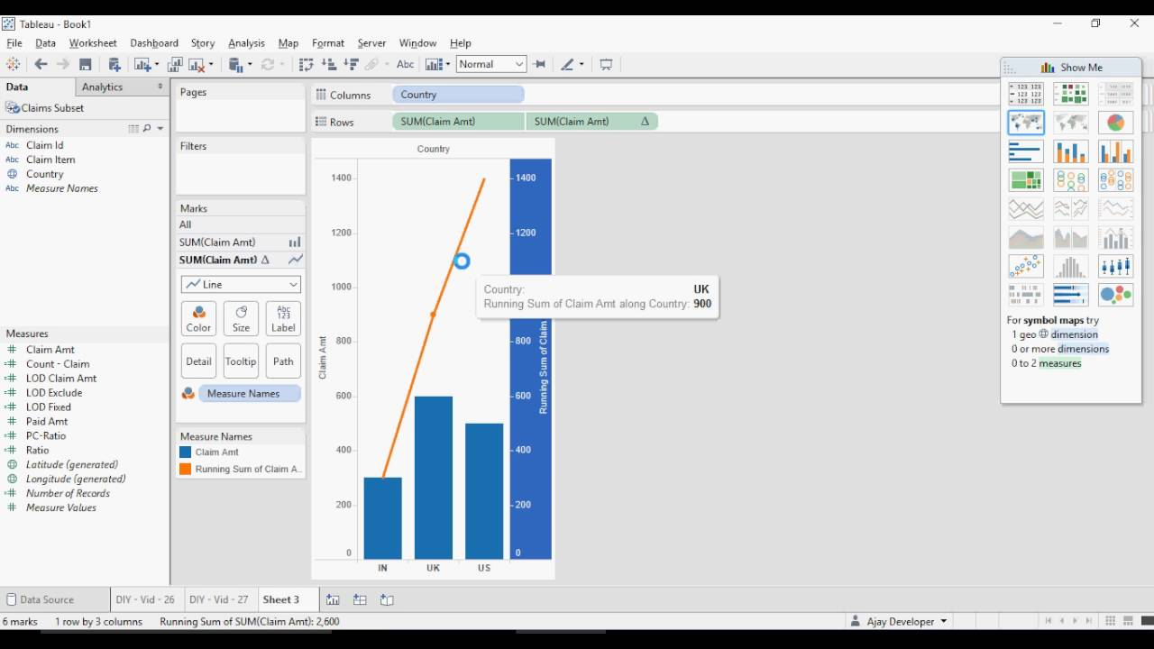 Tableau Do It Yourself Tutorial Table Calculations Diy 28 Of 50