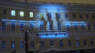 Лазерное шоу на Дворцовой - 7 января 2010