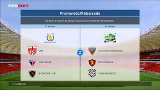 PES 2017 Patch Brasileirao Serie A e B Com Rebaixamento DOWNLOAD