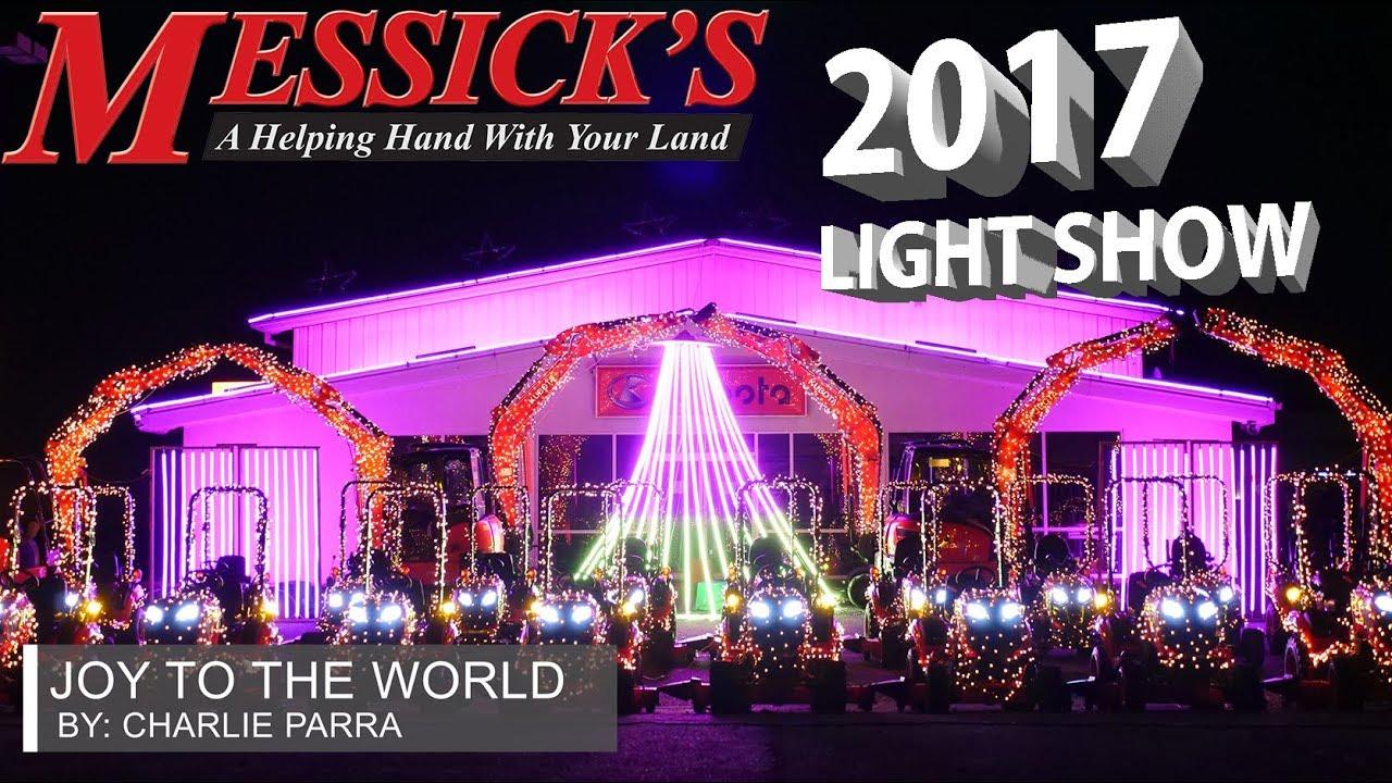 Messick's 2017 Christmas Light Show | Charlie Parra - Joy To The World