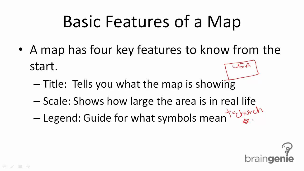 Reading A Map Basic Features Youtube