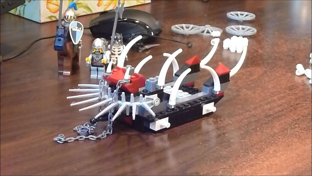 Lego 7092 Skeletons Prison Carriage Castle Theme 2007 Time Skeleton Tower 7093 Lapse