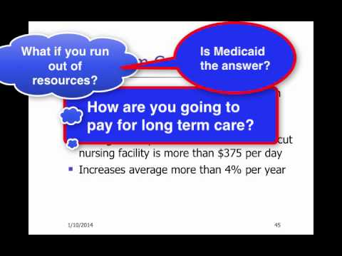 Long Term Care Issues and Medicaid Part 4