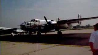 B-25 Mitchell start-up and taxi