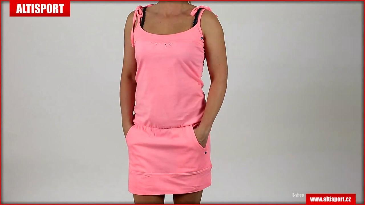 dámské sportovní šaty loap antena clw1728 růžová - YouTube dbcfeb0be2f