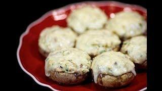 Готовим Шампиньоны с курицей и сыром. рецепт вкусной закуски подойдет Всем