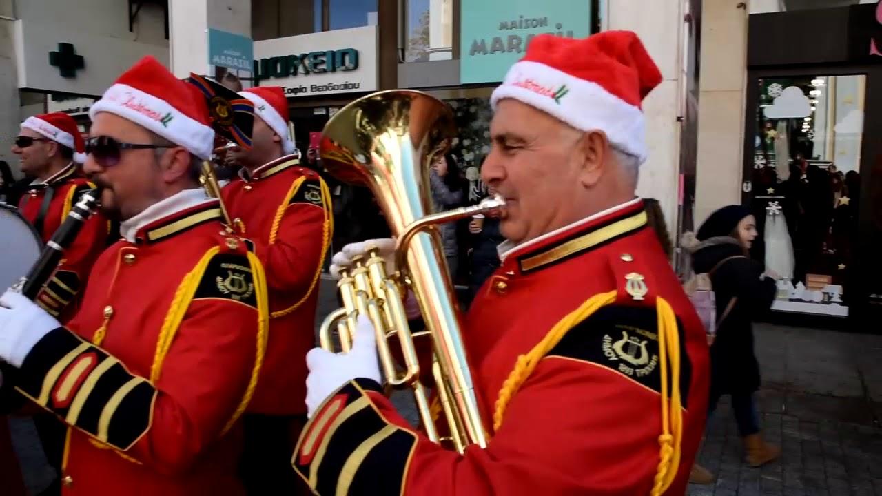 Κάλαντα Χριστουγέννων από την Φιλαρμονική στο Δήμαρχο Τρίπολης