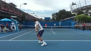 [HD] Novak Djokovic ground stroke practice AO 2016