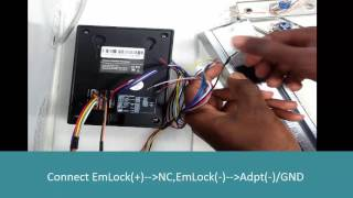 how to connect em lock to sc403