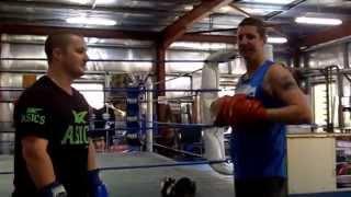 Boxing Lesson 3. uppercutt, Left hook ,right cross.