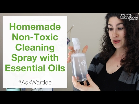 Natural, Non-Toxic, All Purpose Spray Cleaner With Essential Oils | #AskWardee 061