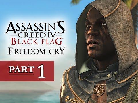 Assassin's Creed 4 Black Flag Freedom Cry DLC Walkthrough Part 1 - 100% Sync AC4 Let's Play