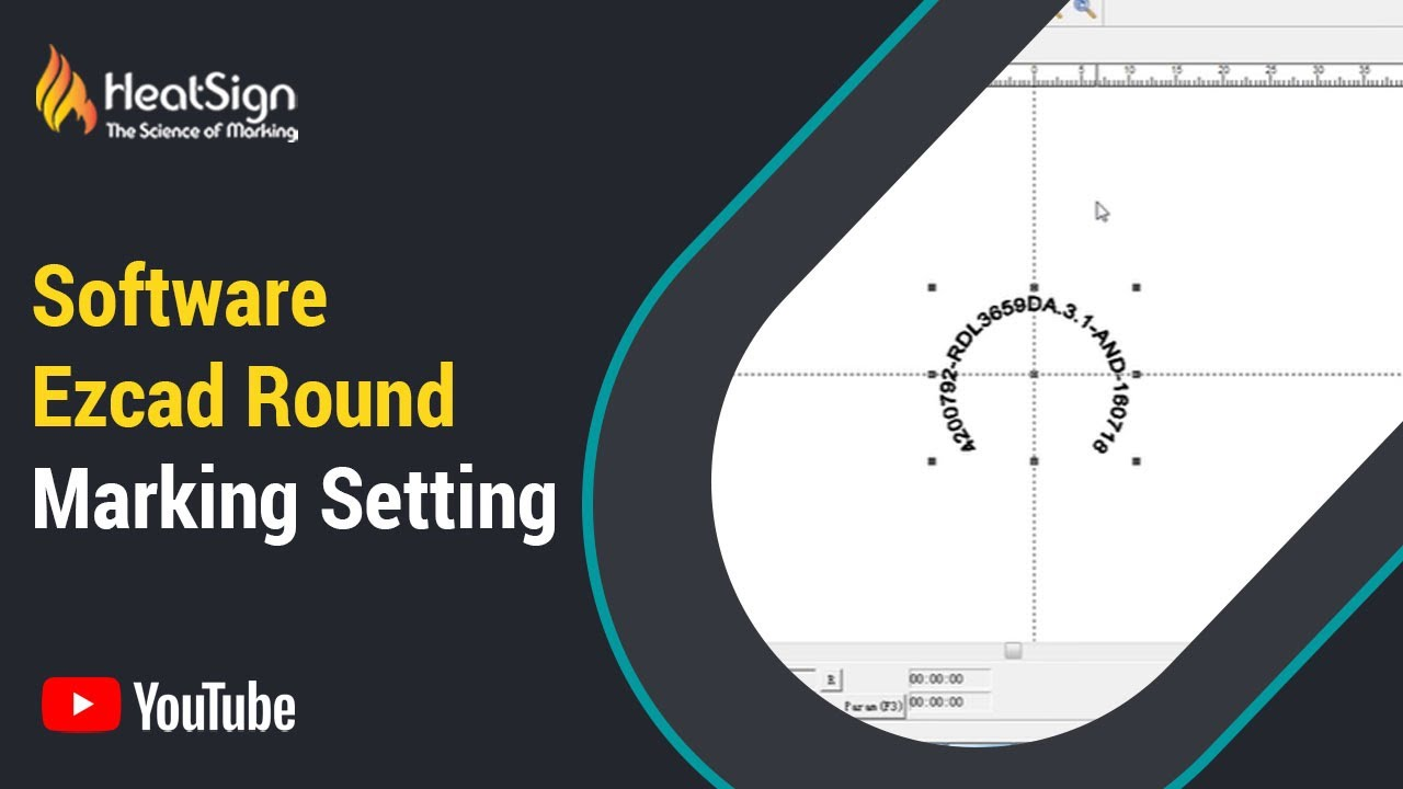 Laser Marking Software Ezcad Round Marking Setting Youtube