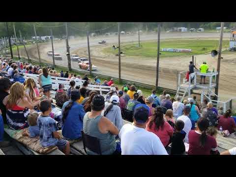 Bemidji Speedway 7 29 2018 mini stock heat 1